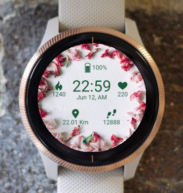 Garmin Watch Face - BW Flower 13