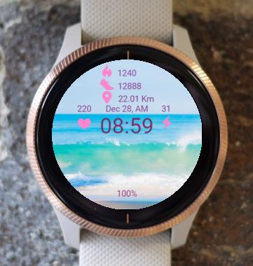 Garmin Watch Face - Beach X