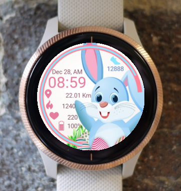 Garmin Watch Face - Bunny And Eggs