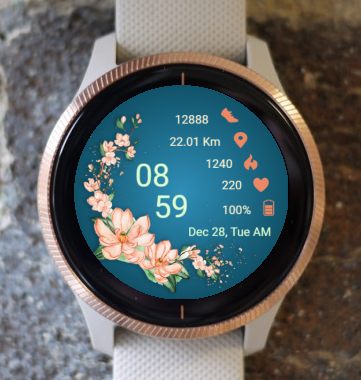 Garmin Watch Face - Flowers BO