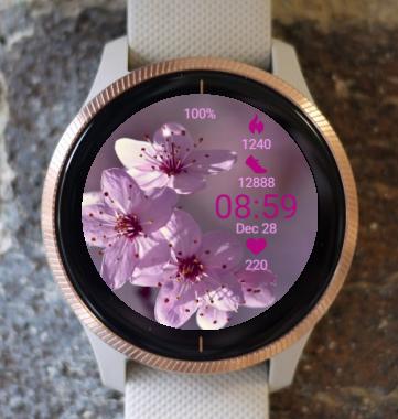 Garmin Watch Face - Sherry Flower