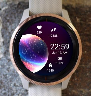 Garmin Watch Face - Glowing Planet