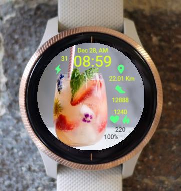 Garmin Watch Face - R Fruit Drink