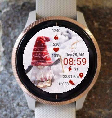 Garmin Watch Face - In A Snow Field