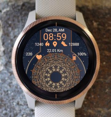 Garmin Watch Face - Ga RR Mandala