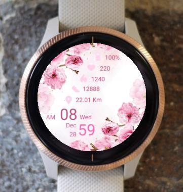 Garmin Watch Face - Pink Spring
