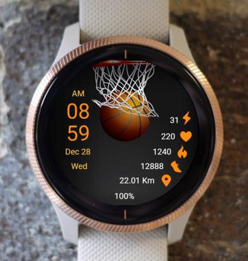 Garmin Watch Face - Basketball 02