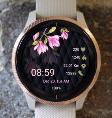Garmin Watch Face - Magnolia
