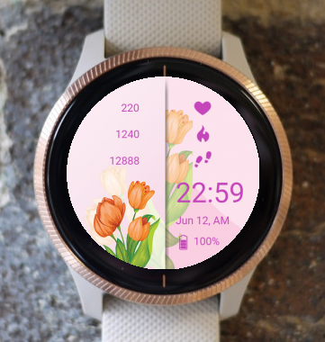 Garmin Watch Face - Tulip
