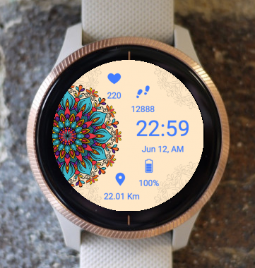 Garmin Watch Face - Mandala C6