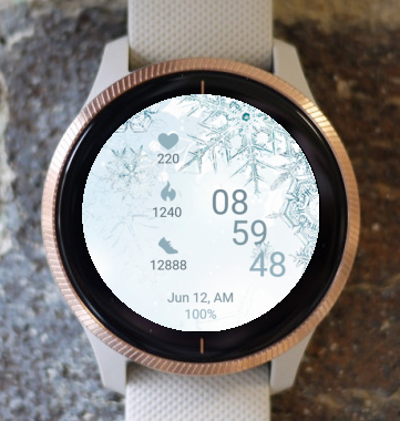 Garmin Watch Face - Ice Flower