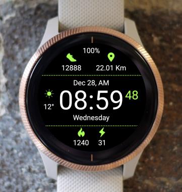 Garmin Watch Face - Porthos G012