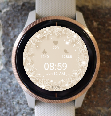Garmin Watch Face - Snowflake CT
