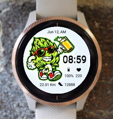 Garmin Watch Face - Happy Hops