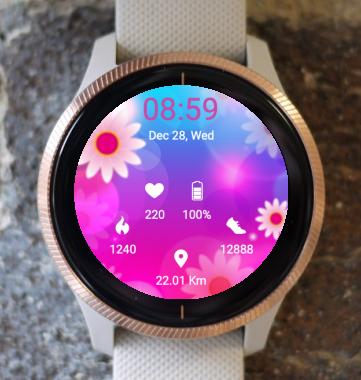 Garmin Watch Face - Pink Spring 3