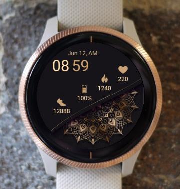 Garmin Watch Face - Mandala Wave