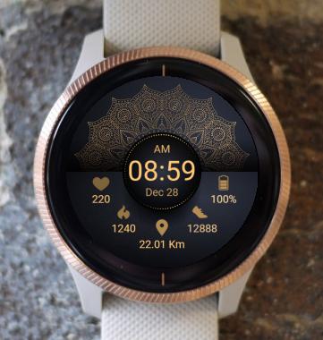 Garmin Watch Face - Mandala G10