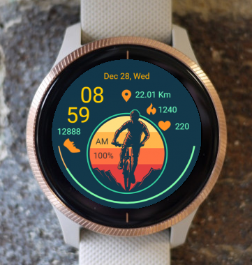 Garmin Watch Face - OffRoad Cycling 02