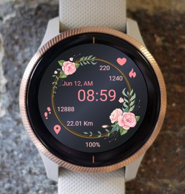 Garmin Watch Face - Rose Ring