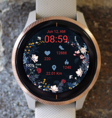 Garmin Watch Face - Flowers RNG