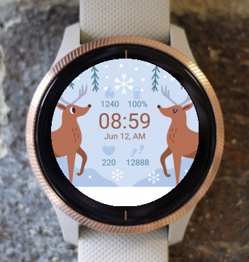 Garmin Watch Face - Christmas Reindeer G
