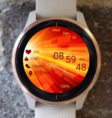 Garmin Watch Face - Fire Light