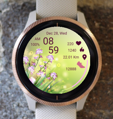 Garmin Watch Face - Spring Meadow 01