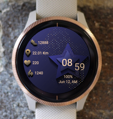 Garmin Watch Face - Blue Star