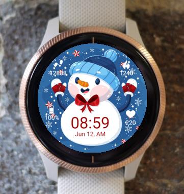 Garmin Watch Face - SnowMan G