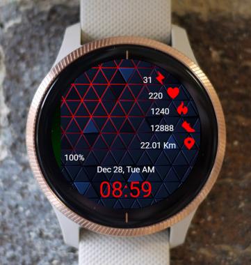 Garmin Watch Face - Abstract 01