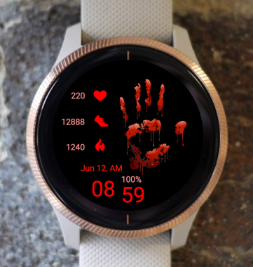 Garmin Watch Face - Bloody Palm
