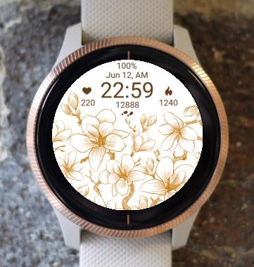 Garmin Watch Face - Flower Fair 03