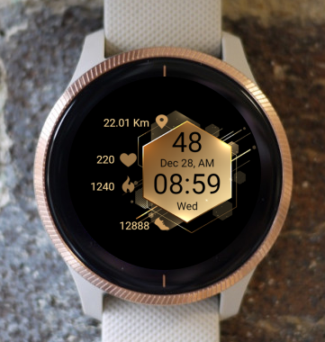 Garmin Watch Face - Golden Hexagon