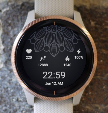 Garmin Watch Face - Flower Mandala