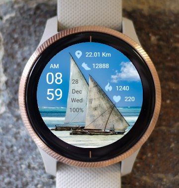 Garmin Watch Face - Sailboat 01