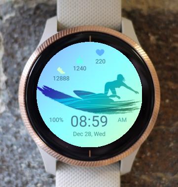 Garmin Watch Face - Surf