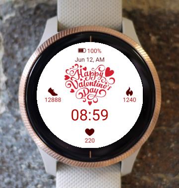 Garmin Watch Face - Happy Valentine