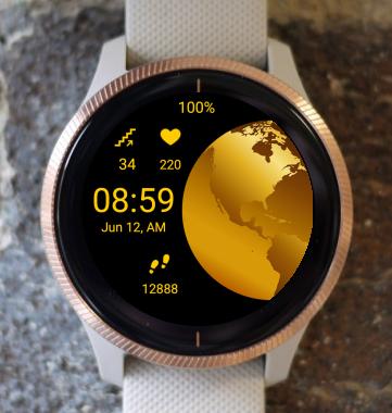 Garmin Watch Face - Gold Planet