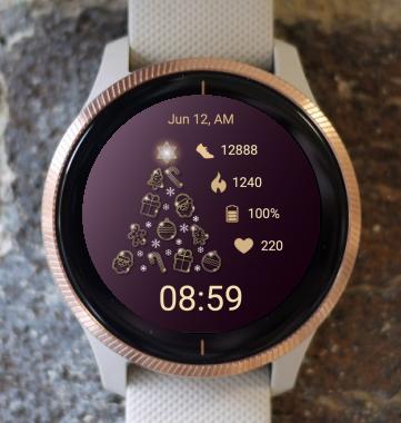 Garmin Watch Face - Light Christmas