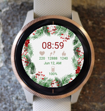 Garmin Watch Face - Christmas Flower G