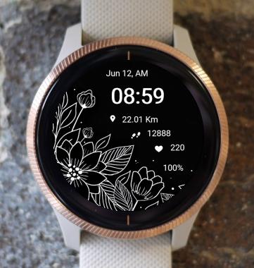 Garmin Watch Face - Flower Fair 10