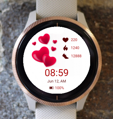 Garmin Watch Face - Hearts