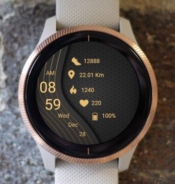 Garmin Watch Face - Dark Gold