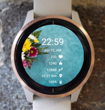 Garmin Watch Face - BW Flower 10
