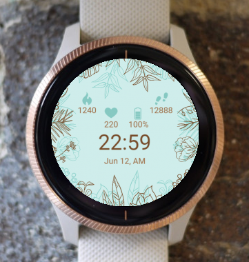 Garmin Watch Face - Nature Flowers G