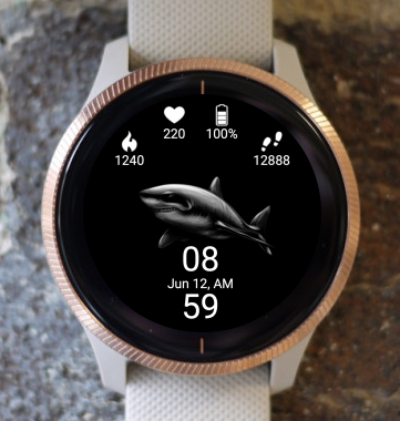 Garmin Watch Face - Shark