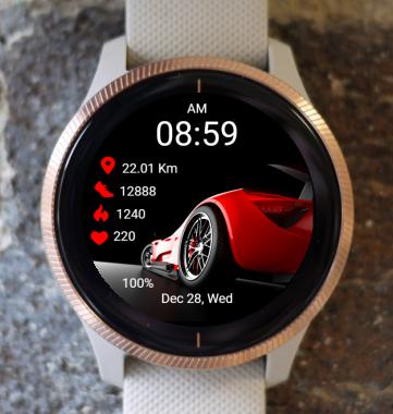 Garmin Watch Face - Rapid Red