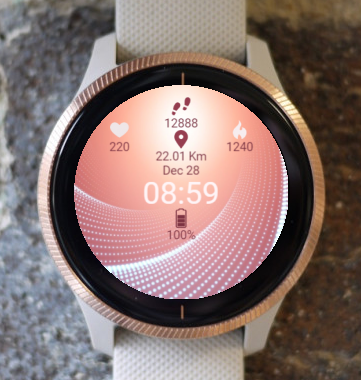 Garmin Watch Face - Pink Swirl