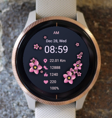 Garmin Watch Face - Pink Spring