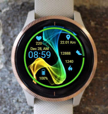 Garmin Watch Face - Etheric Waves 2